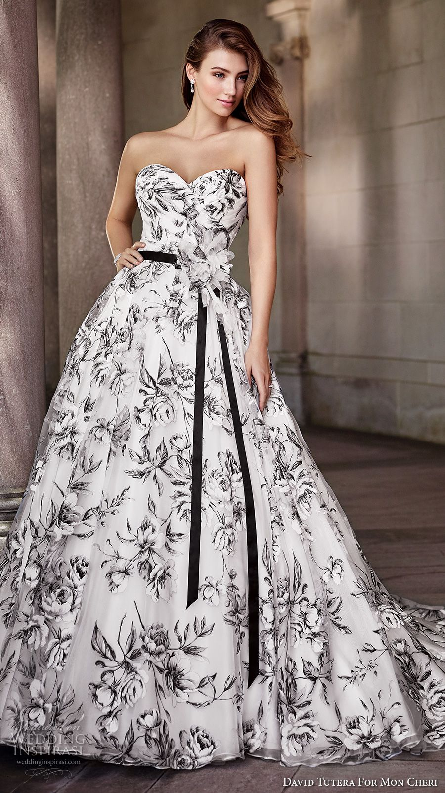 Floral print wedding dresses  David Tutera for Mon Cheri Spring  Wedding Dresses  Romantic