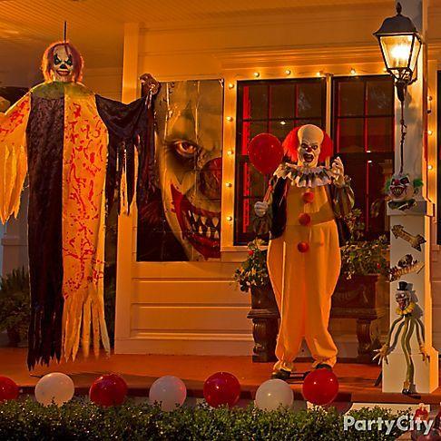 creepy carnival mantel porch party city halloween in 2018