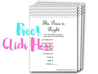Price Is Right Free Baby Shower Games Baby Shower Free Printables