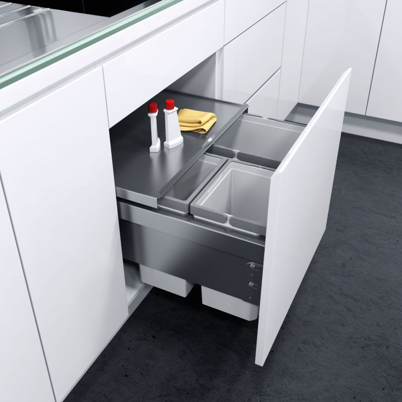 Vauthsagel  Furniture  Öko Liner Waste Bin System  Cozinha Awesome Kitchen Waste Bins Design Inspiration