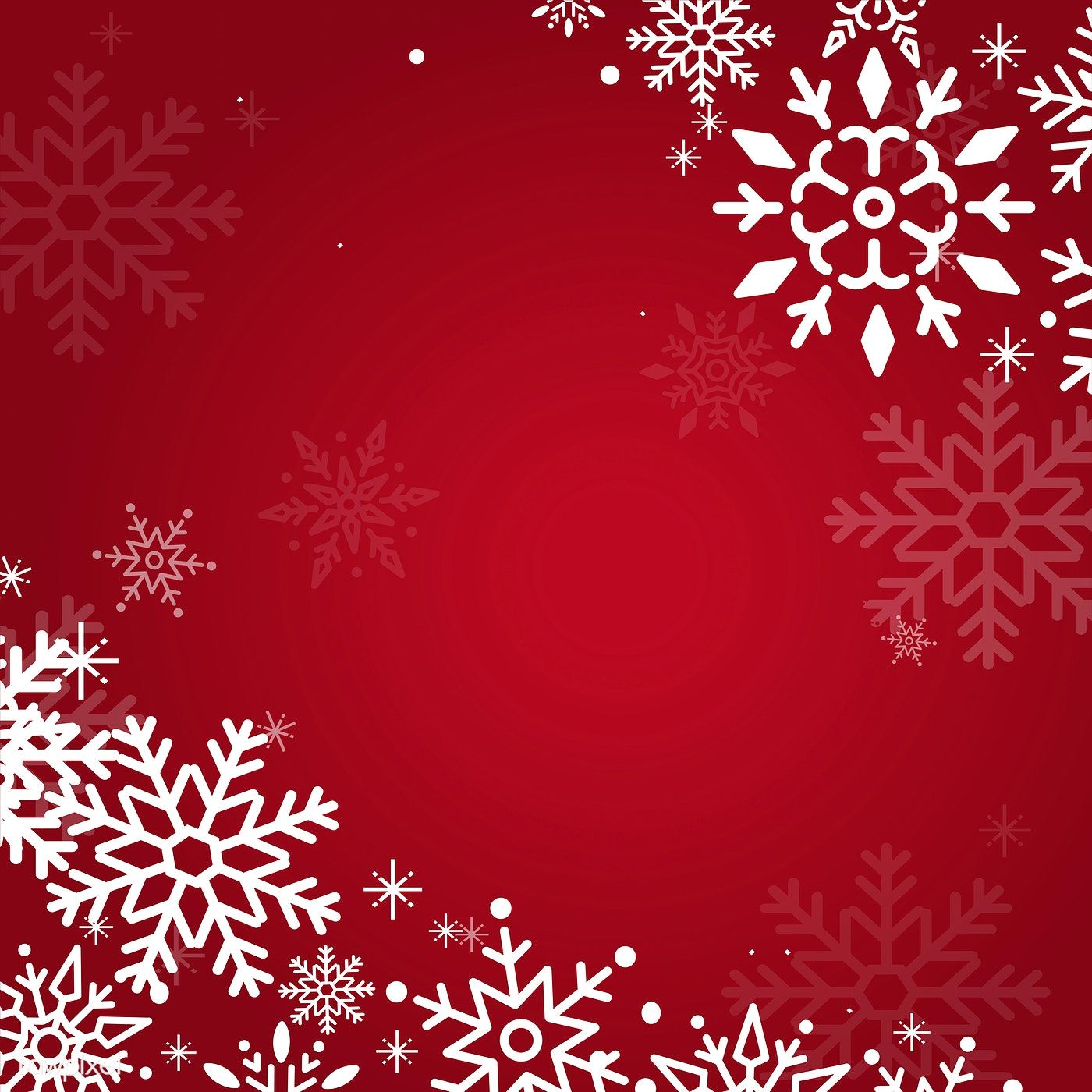 Red Christmas Winter Holiday Background With Snowflake Vector Free Image By Rawpixel Com Holiday Background Red Christmas Winter Holidays