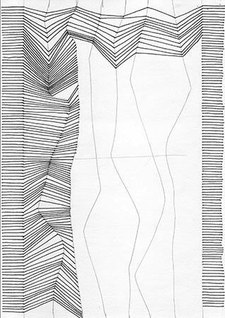 Drawing with lines. Really simple to imitate Bridget Riely