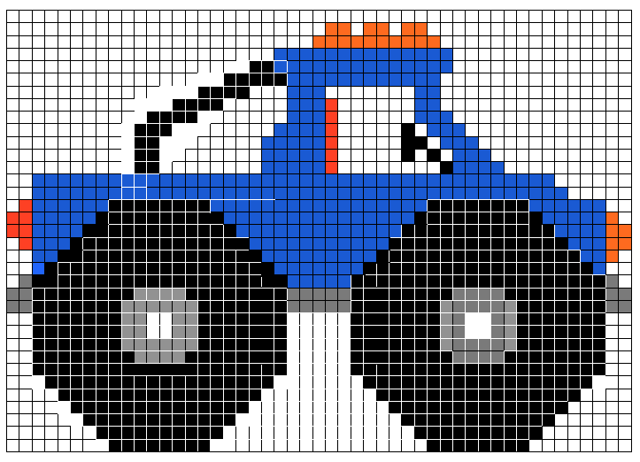 Sandylandya monster truck beadloom designs for Cross stitch wall mural