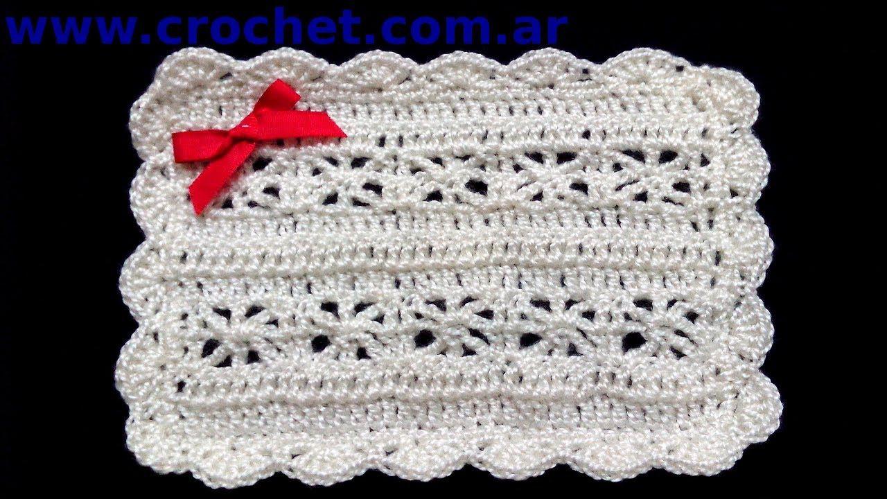 Mantita o Cobija para bebe en tejido crochet tutorial paso a paso ...
