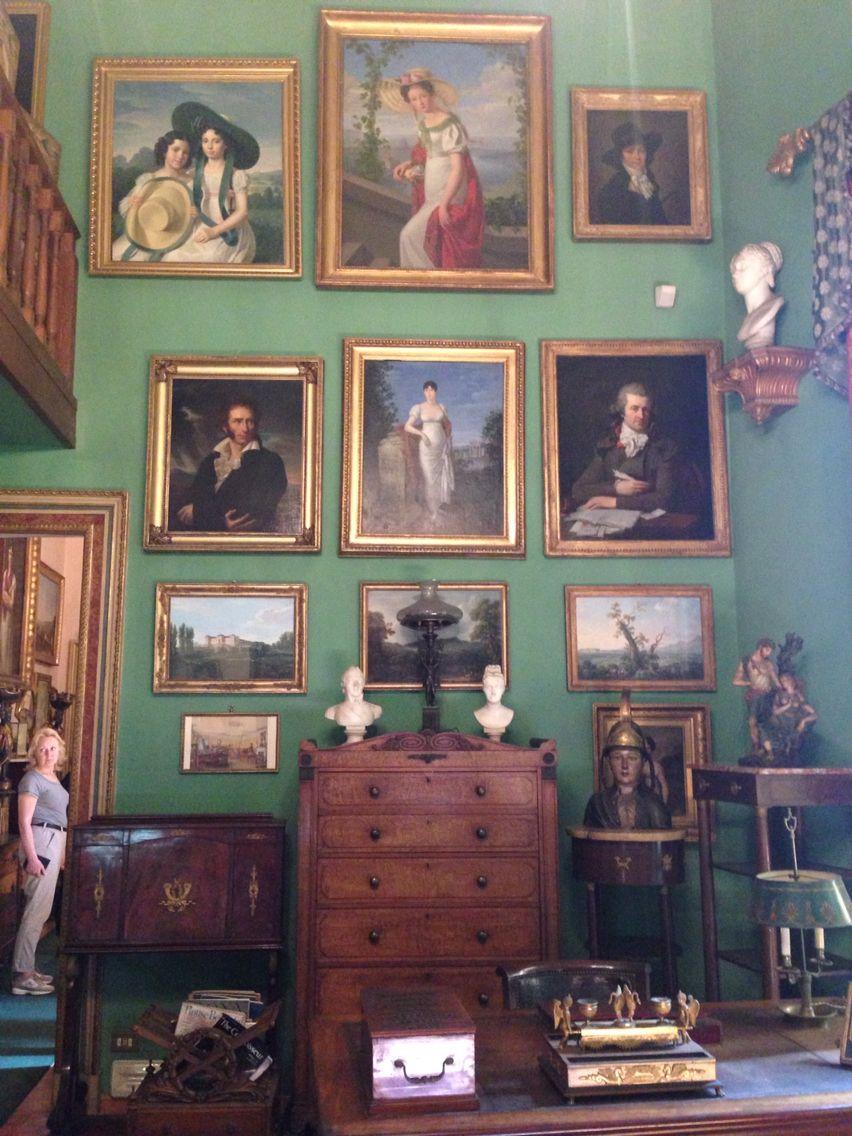 English Country House Drawing Rooms: House Of Mario Praz, Rome, Via Zanardelli 1, Wall Of Art