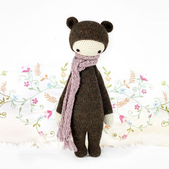 "lalylala » crochet pattern ""BINA the bear"" 