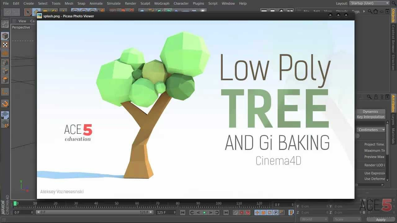 Tutorial: Low-Poly Paper Tree & GI Baking in Cinema 4D | CG