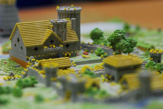 3ders Org Minecraft Village Printed On A 3d Printer 3d Printing