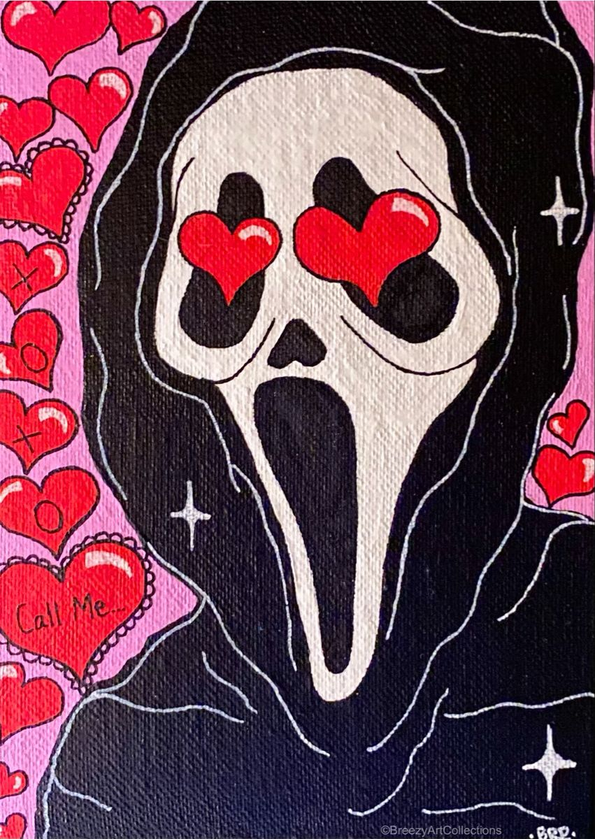 Valentines GHOSTFACE Canvas Painting