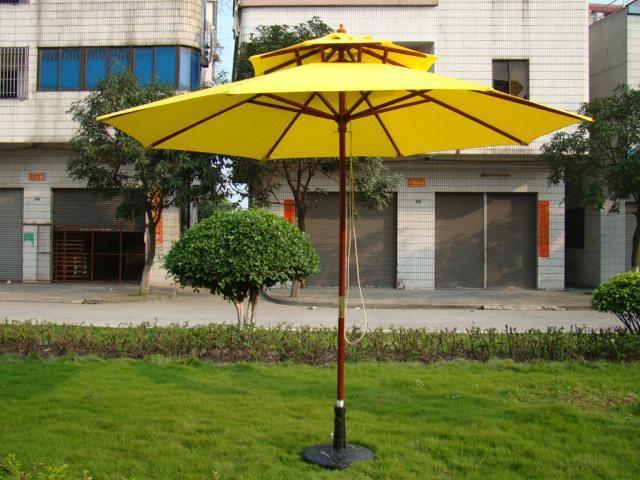 Frances Polyester 2.7M Wood Sun Garden Parasol For Swimming Pools Parasols  Base