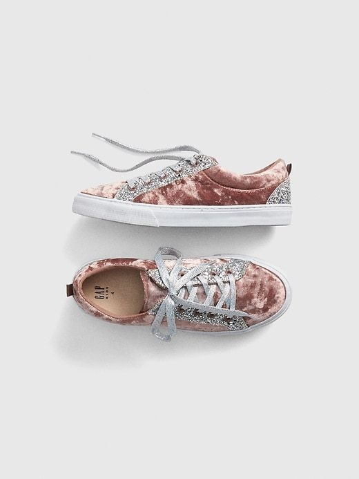 e2326a25d171 Gap Girls  Glitter Velvet Sneakers Mauve Moves