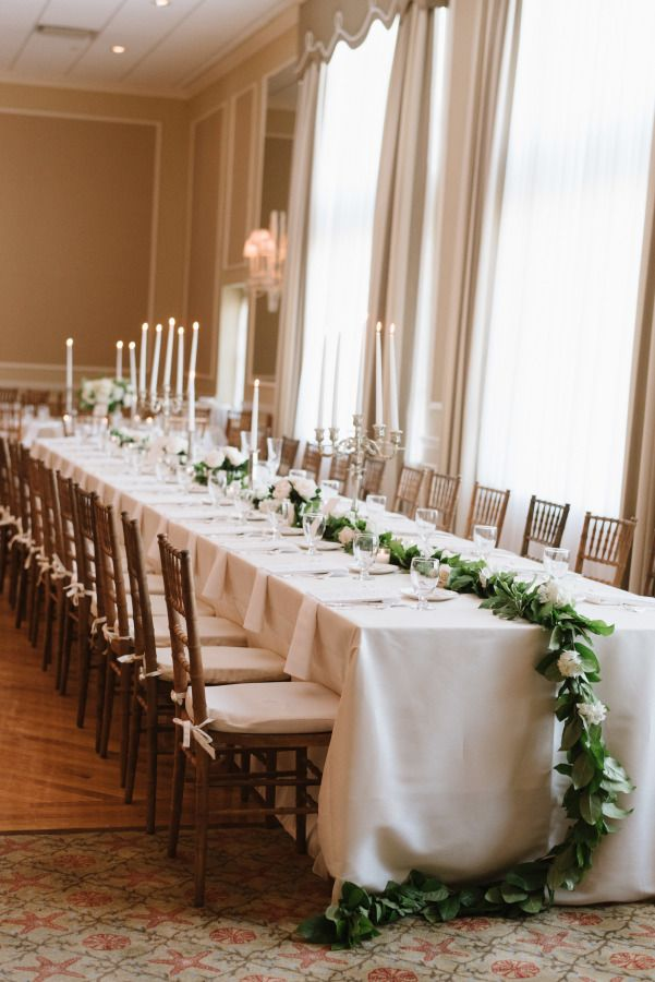 Classic coastal wedding elegance table decor: http://www.stylemepretty.com/2017/03/31/classic-coastal-new-jersey-wedding/ Photography: Trent Bailey - http://trentbailey.com/