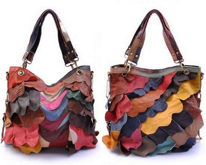 Photo of renkli derilerden çanta