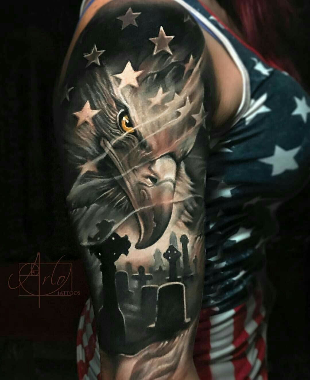 Top 9 Affectionate Patriotic Tattoos For Men | Styles At Life