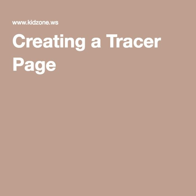 Creating a Tracer Page | Tracer, Create name, Custom letters
