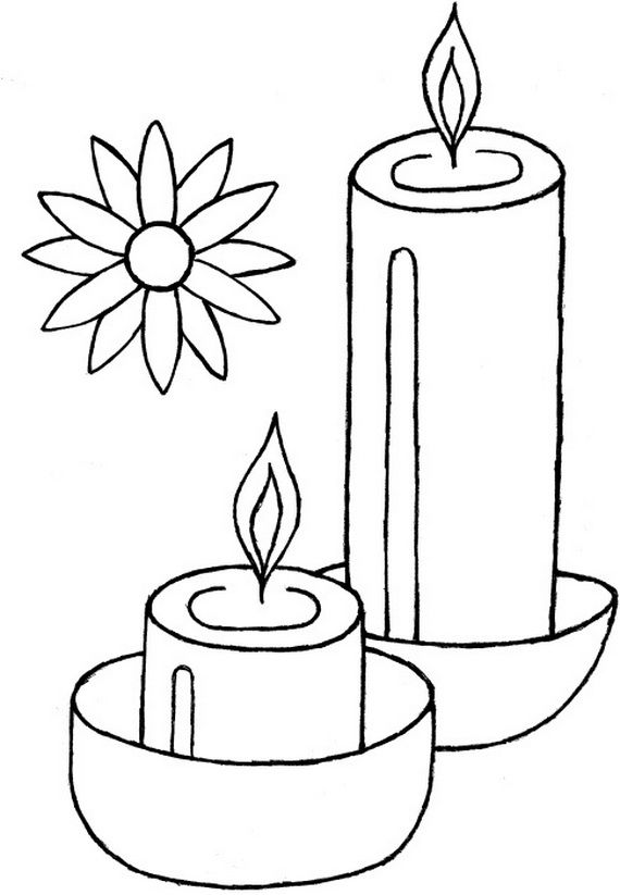 Diwali Colouring Pages Diwali Colours Diwali Candles Coloring