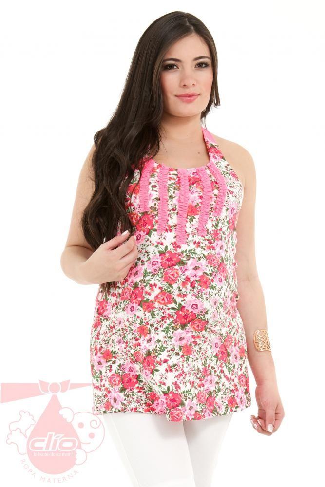 Resultado de imagen para vestidos maternos con flores | Blusones de ...