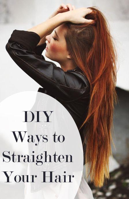 DIY Ways to Straighten Your Hair