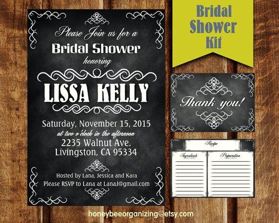 Custom Bridal Party Invitation  Bridal by HoneyBeeOrganizing