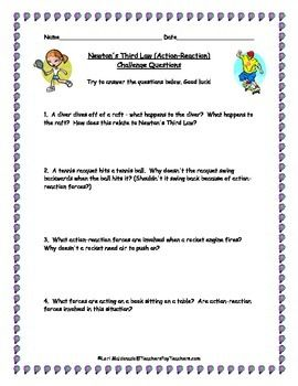 Newton S Laws Of Motion Third Law Challenge Questions Newtons Laws Of Motion This Or That Questions Newtons Third Law