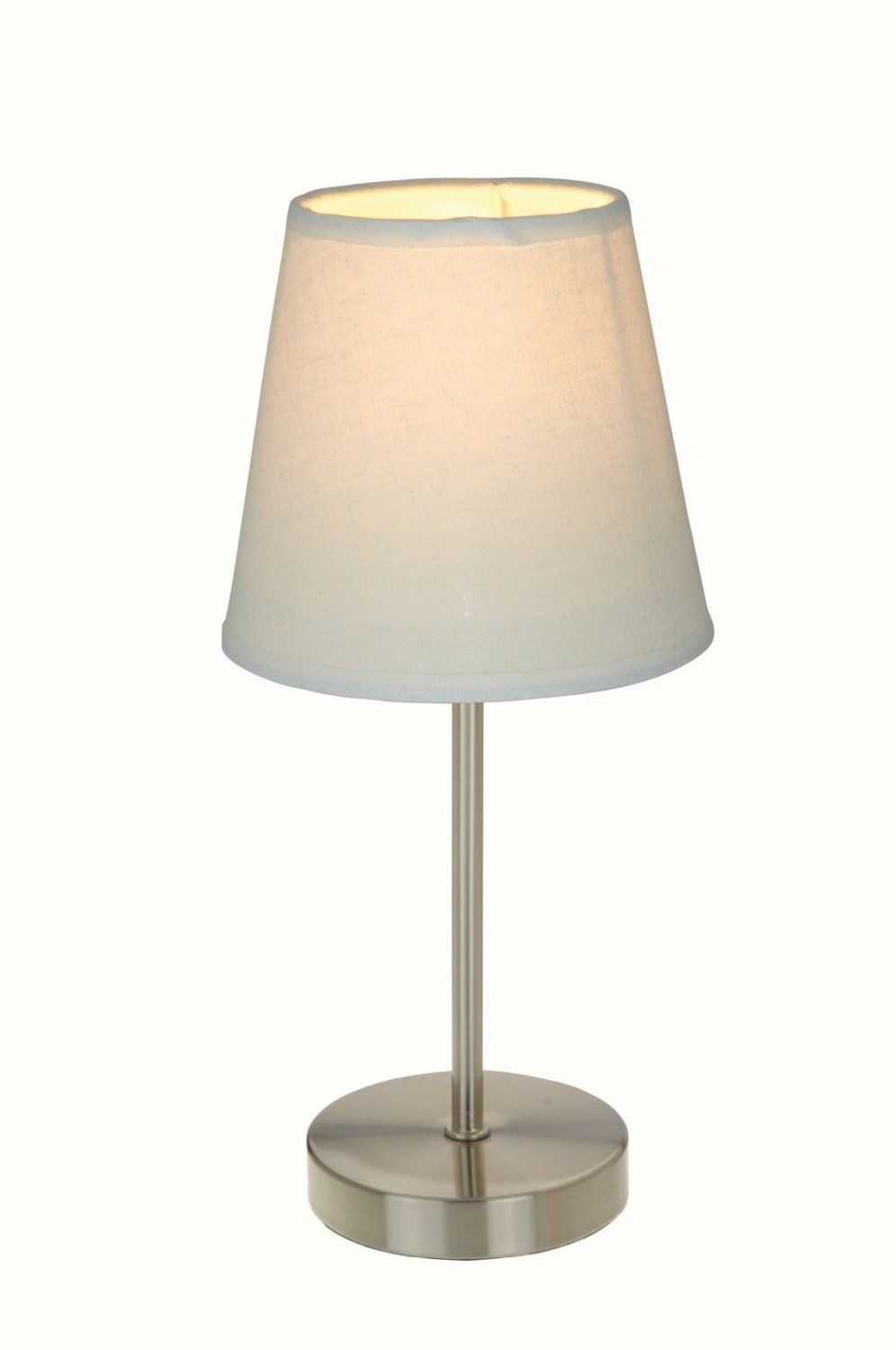This would be adorable on a desk or workspace home decor simple designs sand nickel mini basic table lamp with fabric shade white simple designs sand nickel mini basic table lamp with fabric shade white geotapseo Choice Image