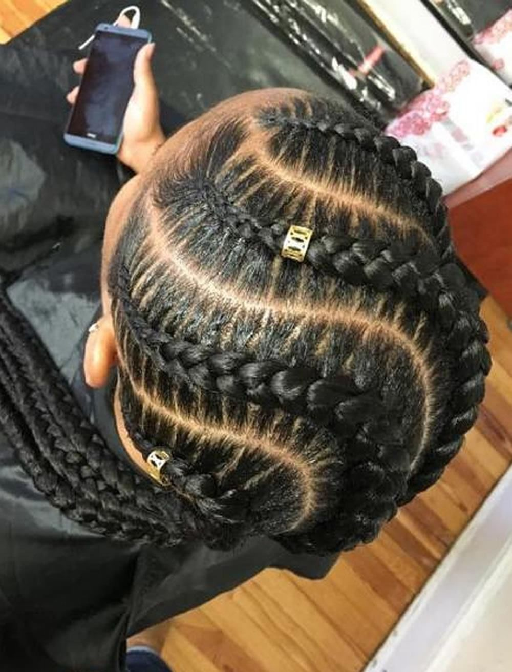 Braided Hairstyles for Women fashiong Slayed Black
