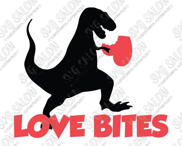 Love Bites Boy's Valentine's Day Shirt SVG Cut File Set ...
