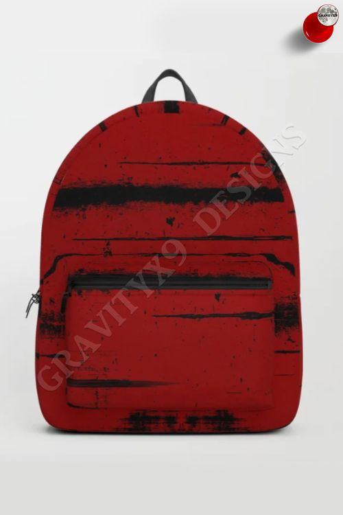 badb2f5768 Black Grunge on Red Backpack by  Gravityx9 at  Society6   back to school  supplies high school   back to school supplies   back to school shopping ...