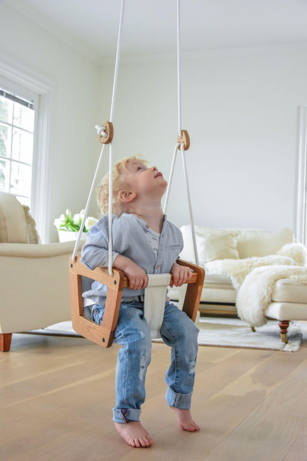 Babyschommel Toddler Eiken Hout Lillagunga Met