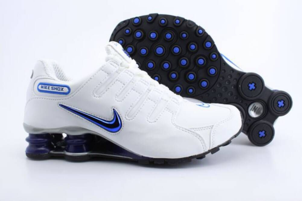 Equipo de juegos Especificidad Mediante  Nike Shox NZ Mens Mesh Shoes White Blue | Mens nike shox, Nike shox nz, Nike  shox shoes