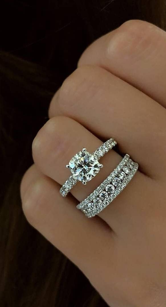Best Gift Jewelry For 55 Valentine's Day, New 2019 - Page 31 of 55 -  hotcrochet .com in 2020   Stackable rings wedding, Dream engagement rings,  Wedding ring sets