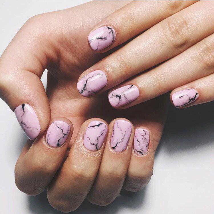 14 2k Likes 223 Comments Boohoo Com Boohoo On Instagram Pink Marble Nailspo Thisisvenice Squoval Nails Acrylic Nail Shapes Lipstick Nails