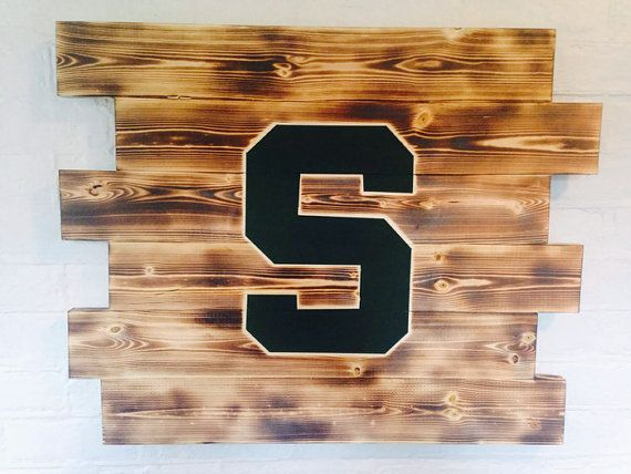 Michigan Man Cave Signs : Michigan state wood sign by wallywallhangers on etsy wallhangers