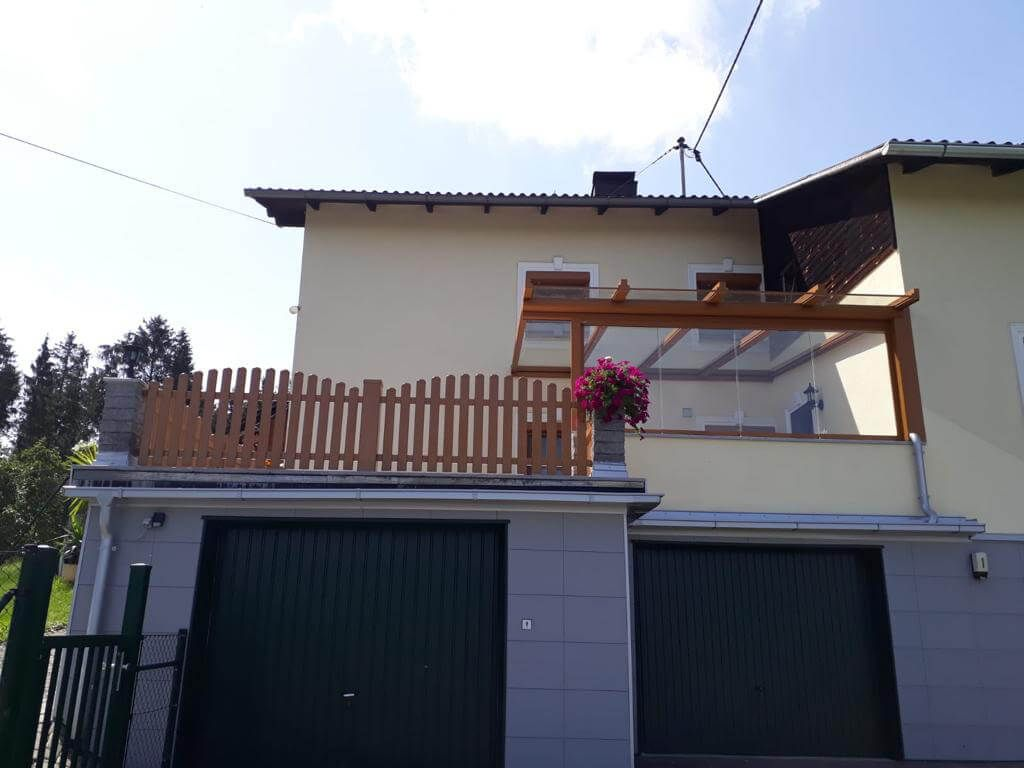 Terrassenüberdachung oberhalb Garage   Fenster Schmidinger ...
