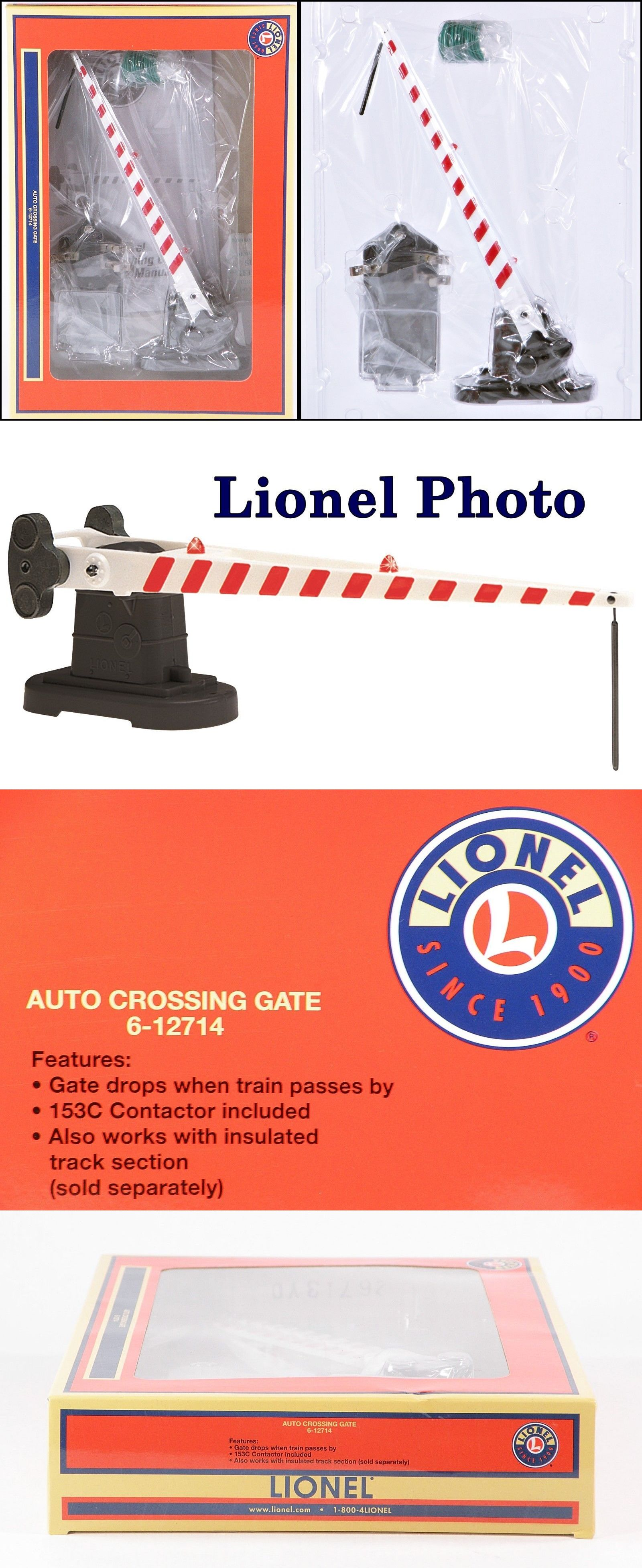 hight resolution of signals 81051 lionel 6 12714 auto crossing gate w red light 1993 2017 c10 nib buy it now only 16 on ebay signals lionel crossing light