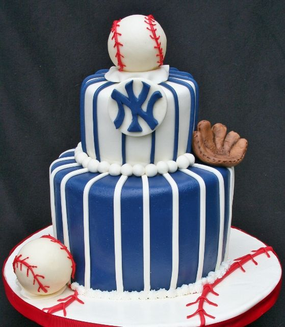 New York Yankees Bday Cake With Images Yankee Cake Cake Cake Gallery