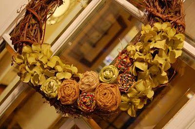 Paper Wings: Pretty Autumn Wreath