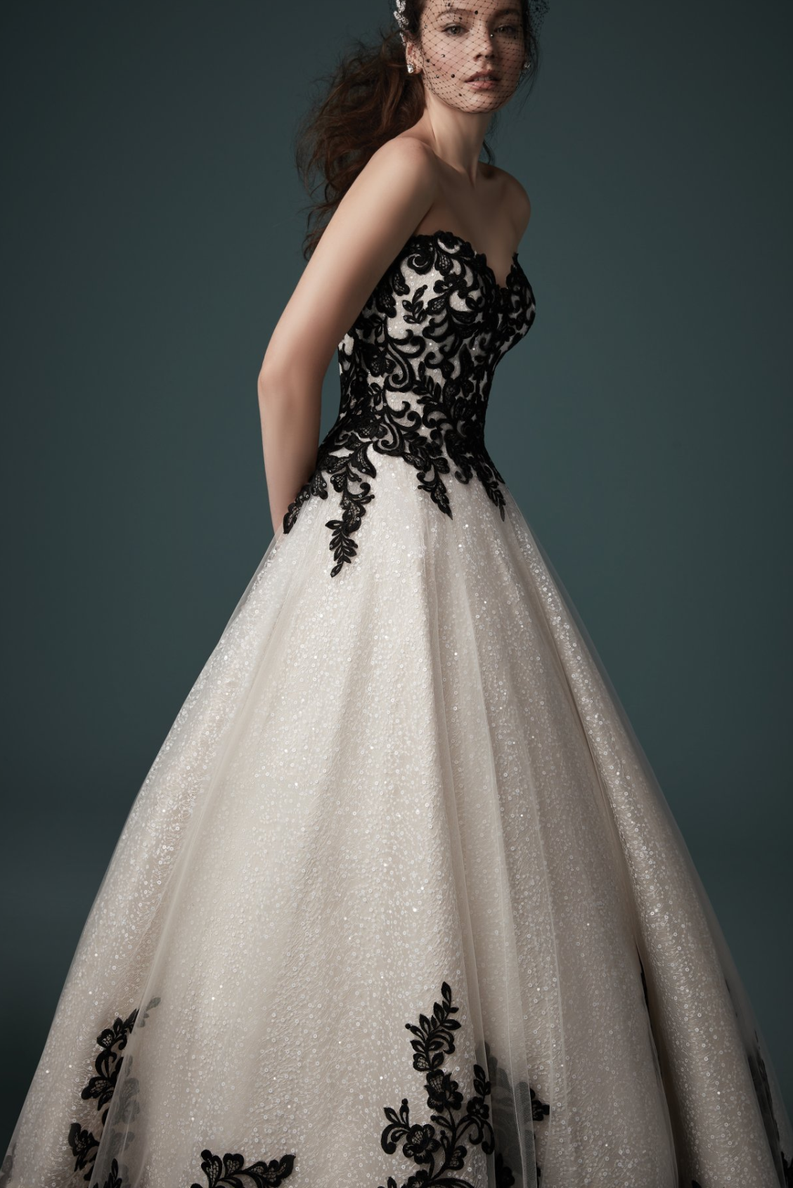 Tristyn By Maggie Sottero Wedding Dresses And Accessories Black Wedding Gowns Gothic Wedding Dress Wedding Dresses Lace Ballgown [ 1690 x 1128 Pixel ]