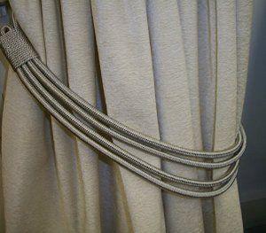 Silver Grey Cord Band Curtain Tie Back Tieback Amazon Co Uk