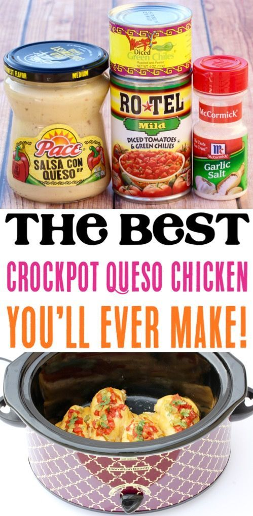 Crockpot Chicken Rezepte! Dieses Easy Slow Cooker Queso Huhn ist das ultimative #healthycrockpotchickenrecipes