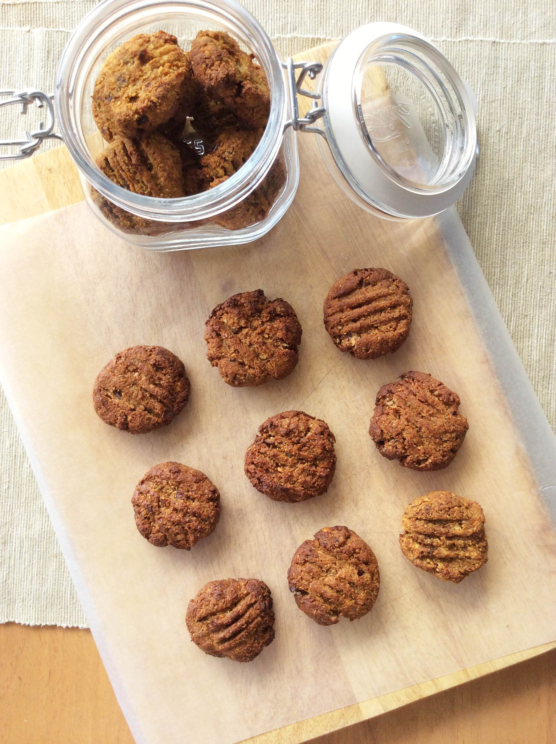 In this care, these cookies are sweetened with full dates.