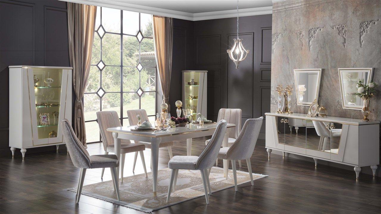 Vitella Yemek Odasi Takimi Bellona Mobilya Ev Oturma Odasi Apartman Dairesi Dekorasyonu Yemek Odasi Takimlari