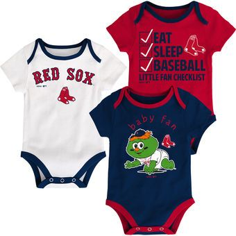 85c0ad5aa Boston Red Sox Newborn   Infant Navy Red White Play Ball Three-Pack ...