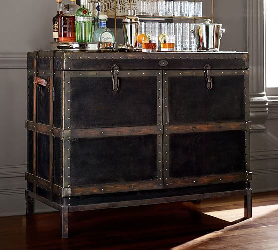 bar trunk furniture. ludlow trunk bar cabinet pottery barn 1599 furniture c