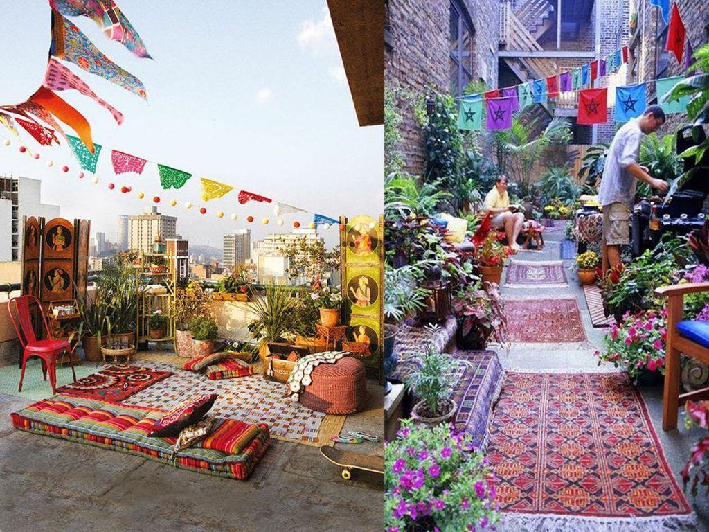 Telas para terrazas muebles para terraza en ratan y verde - Telas para terrazas ...