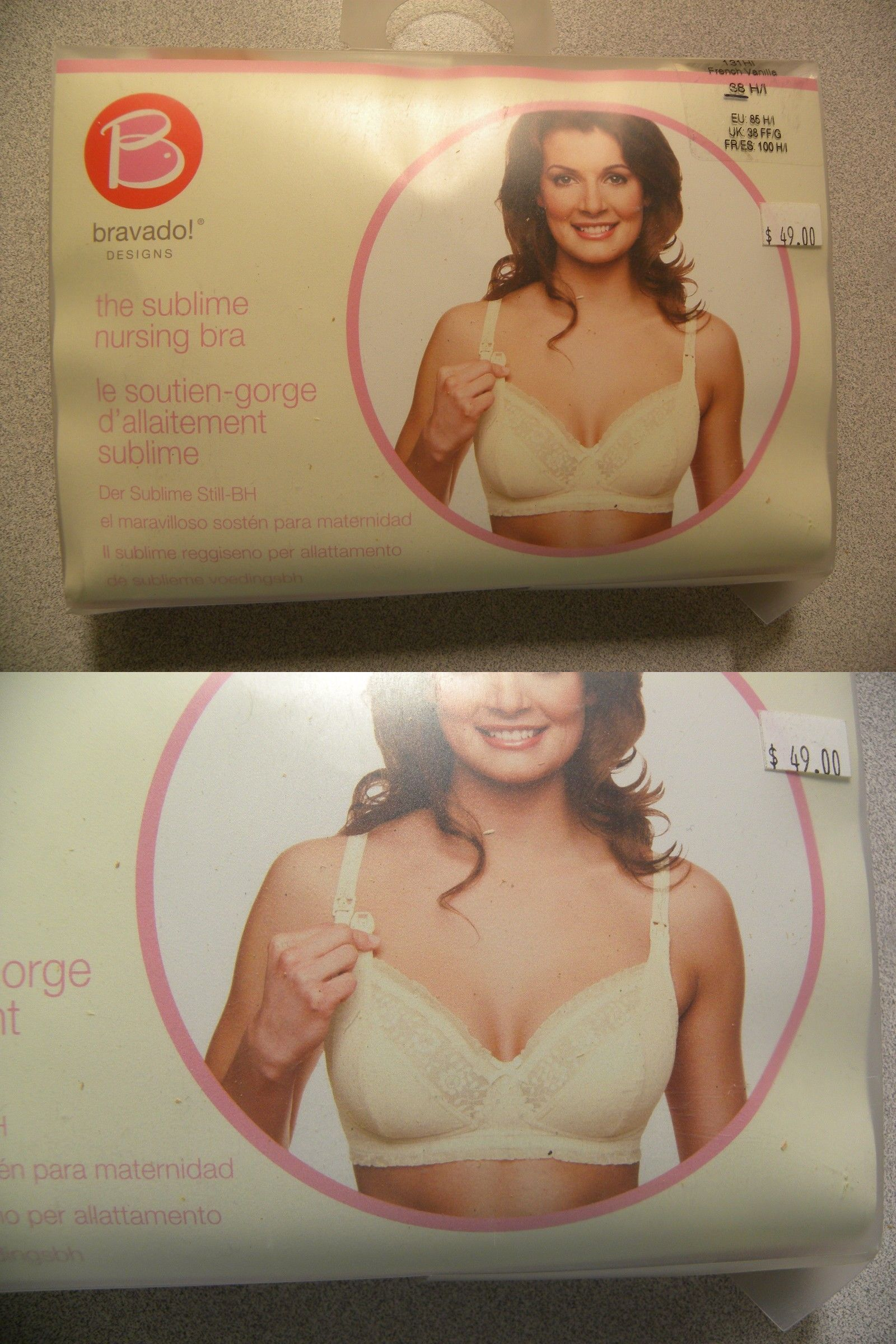 45991b6857 Bras 11517  Nwt Womens Bravado The Sublime Nursing Bra French Vanilla 38H I  -