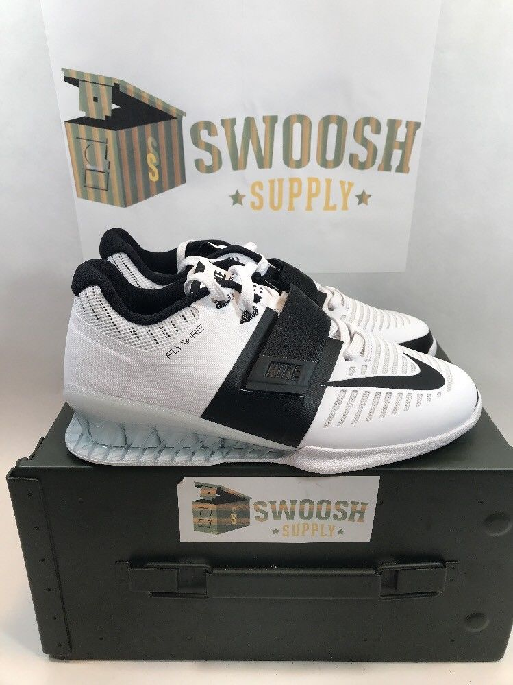 promo code 19338 70f50 Nike Wmns Romaleos 3 Weightlifting Shoes Black White New Sz 6 Women s 878557 -100  Nike  Trainers