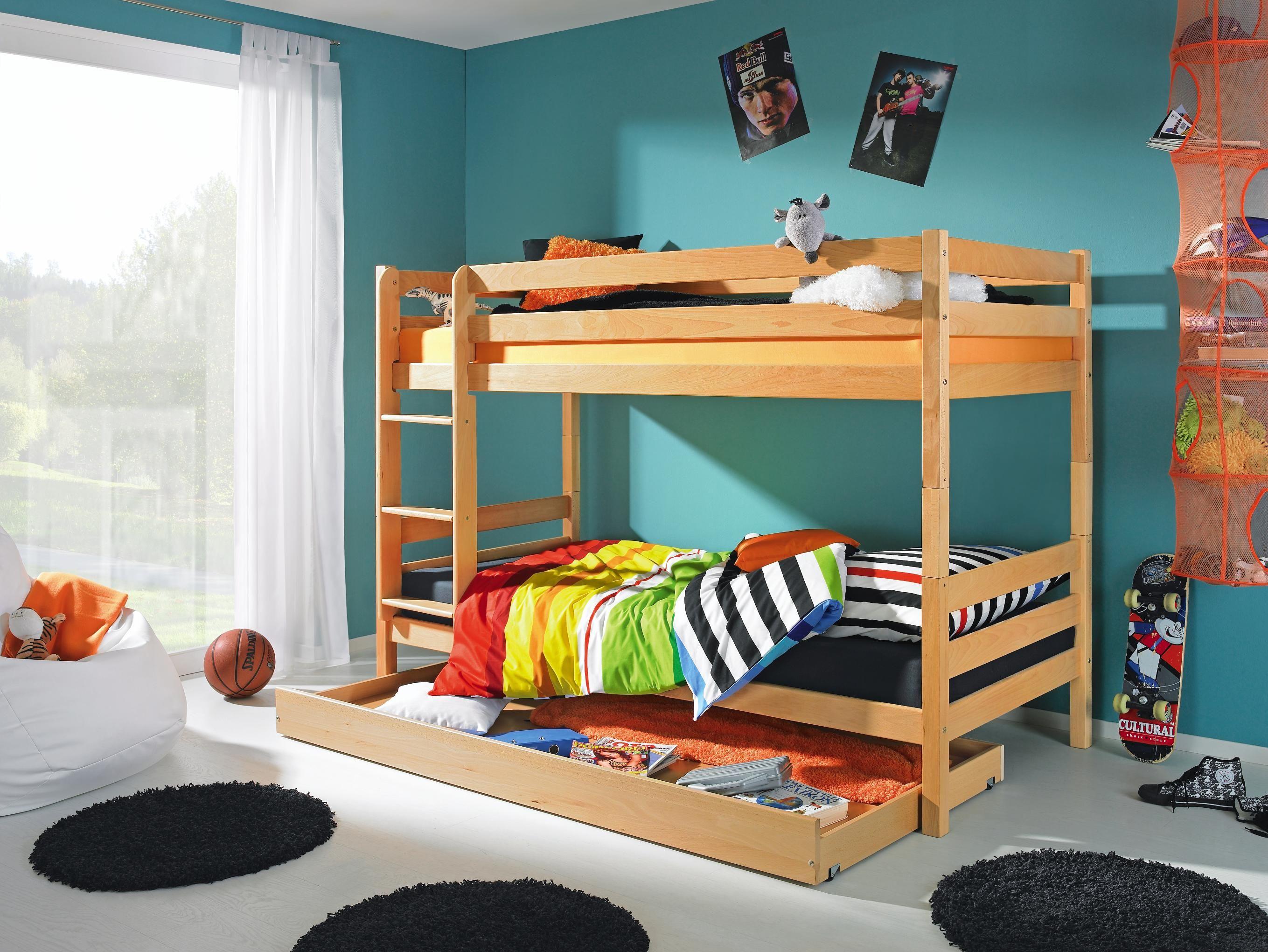 vielseitiges etagenbett jakob von linea natura aus massiver buche kinder und jugendzimmer. Black Bedroom Furniture Sets. Home Design Ideas