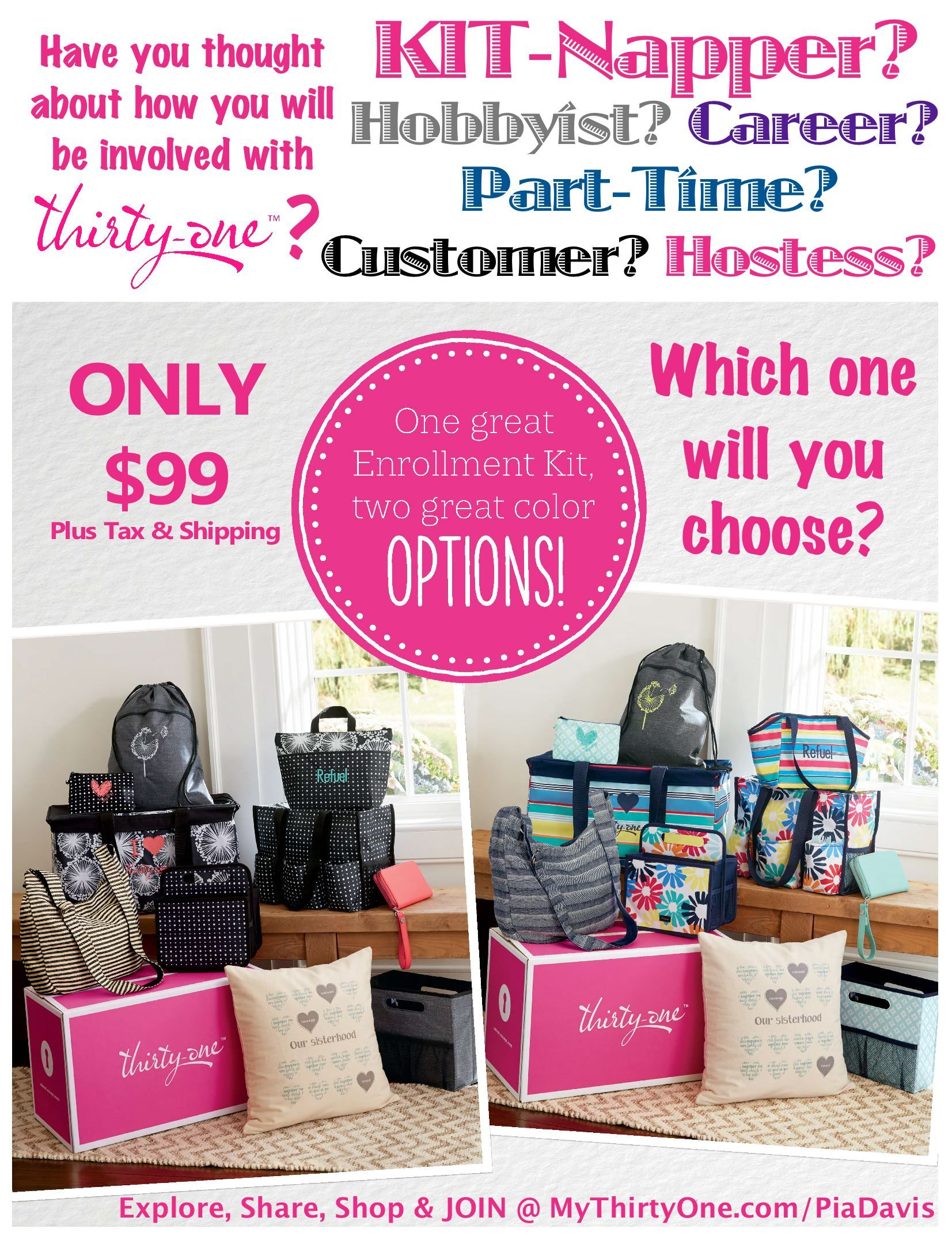 31 how are you involved with thirty one gifts kit napper career