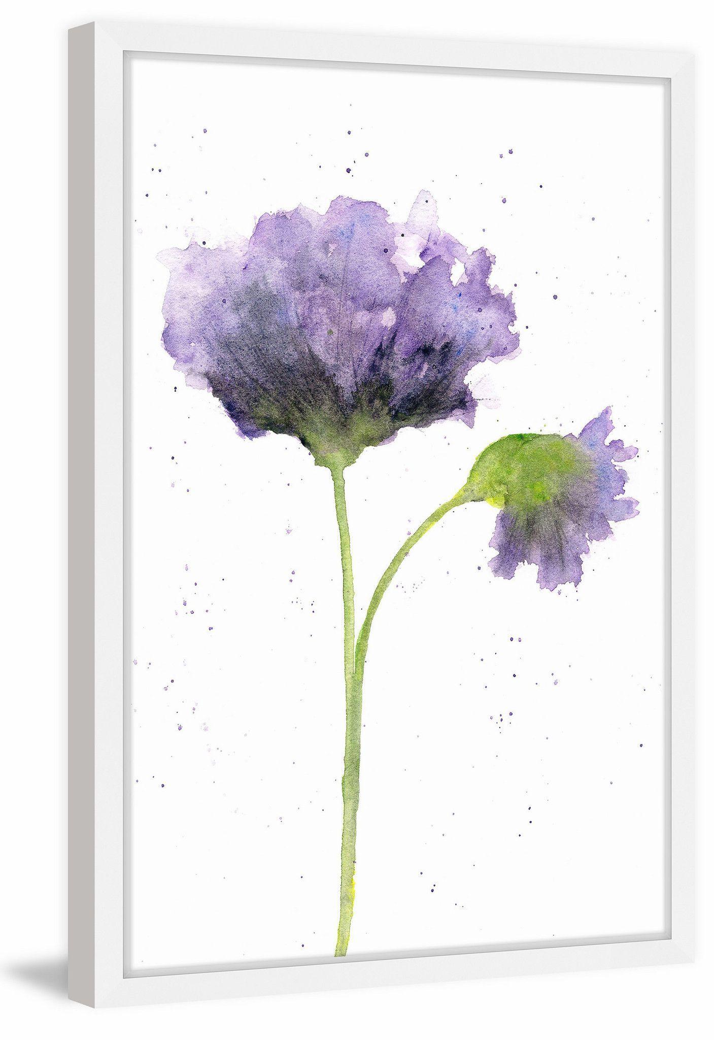 Purple Poppy In 2020 Watercolor Flowers Watercolor Poppies